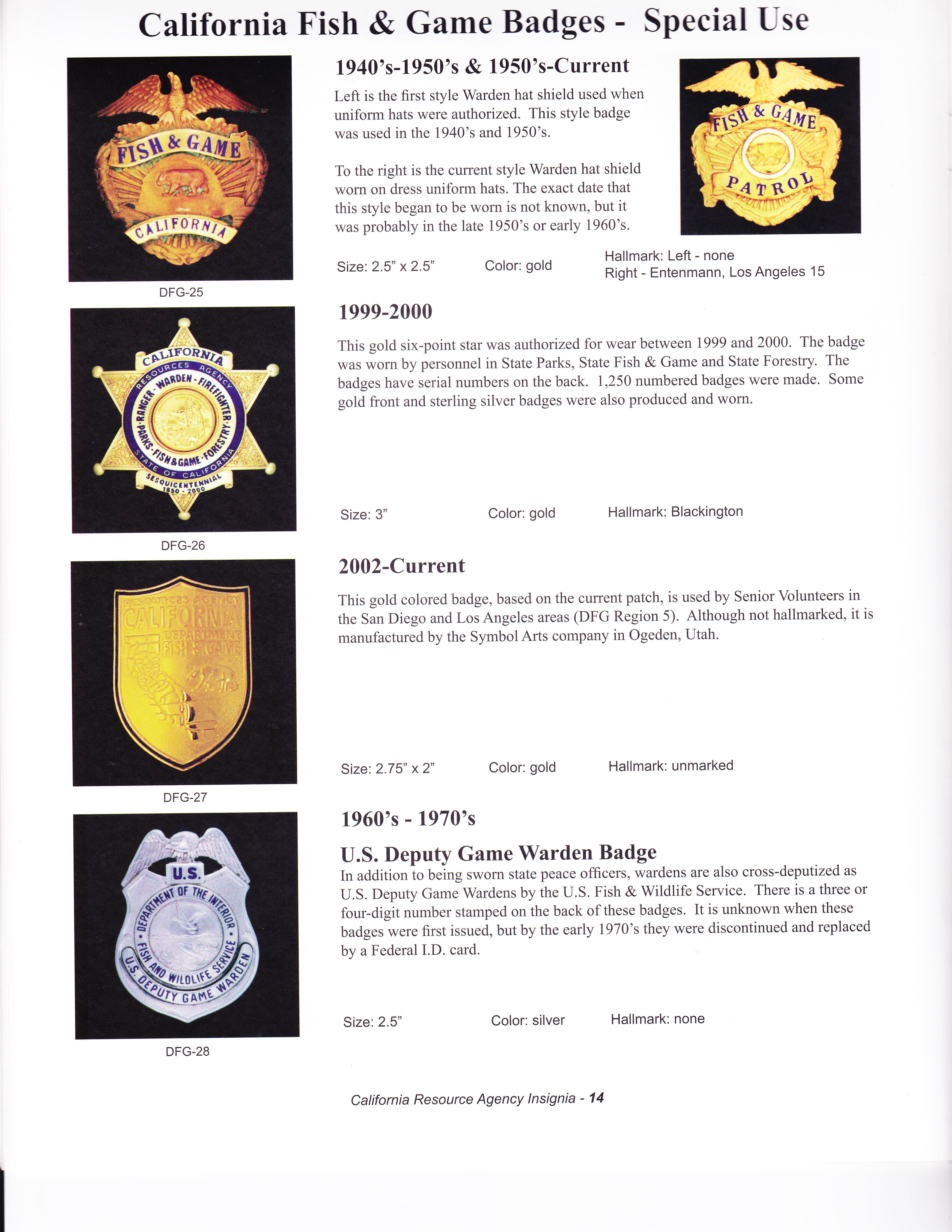 Warden badges retired california game warden for California fishing game